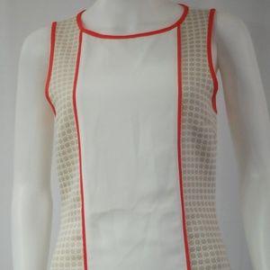 NWT White Cream Orange Dress Sz S